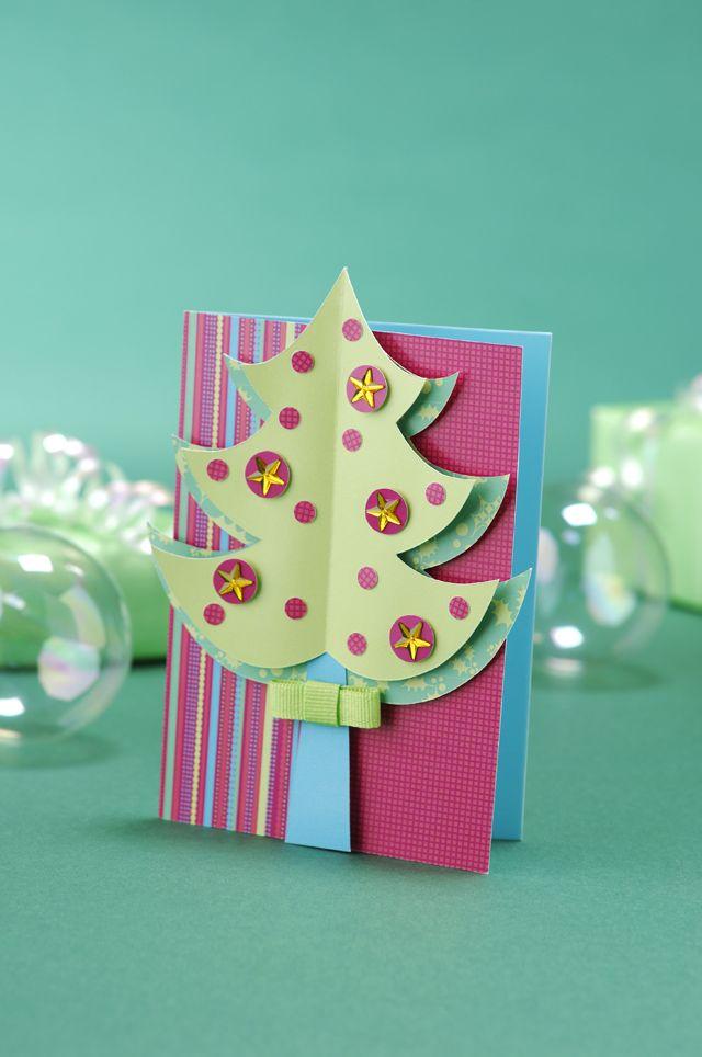 Free Xmas Card Making Ideas Part - 49: FREE Christmas Tree Template And Bonus Card!