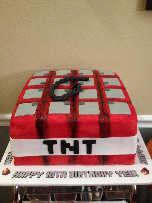 Minecraft Tnt Birthday Cake Birthday Cakes Cake And Healthy Recipes