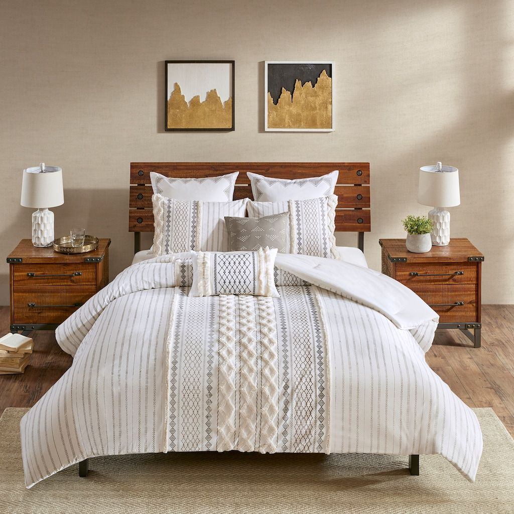 Ink Ivy Imani 3 Piece Cotton Comforter Set Bedroom Comforter