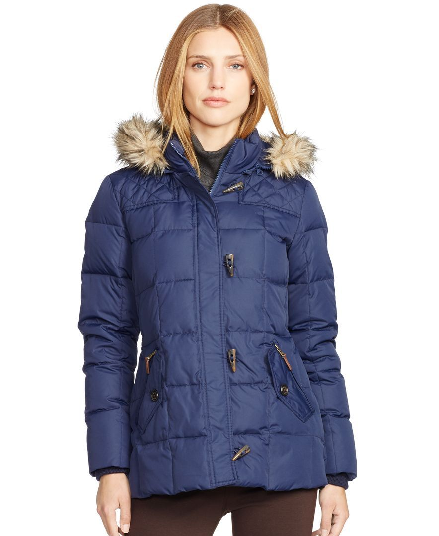 Lauren Ralph Lauren Faux-Fur-Trim Hooded Puffer Jacket