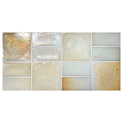 Complete Tile Collection Truegl Concepts Creamy Aqua Pearl Recycled Gl Mi 038 Pattern Color P