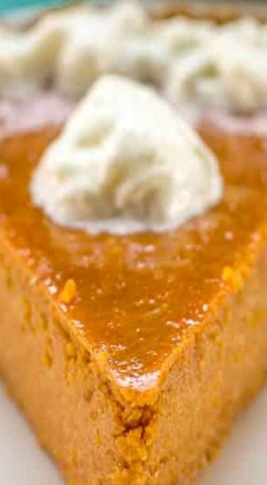 Crustless Pumpkin Pie (A Lighter Pumpkin Pie) - Fl
