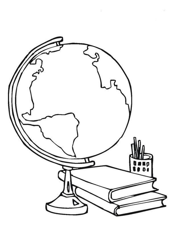 ausmalbild Den terrestrischen Globus | Ausmalbilder Gegenstände ...