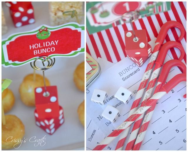 Christmas Bunco Party Ideas Part - 25: Holiday Bunco Christmas/Holiday Party Ideas | Bunco Party, Holidays And Bunco  Ideas