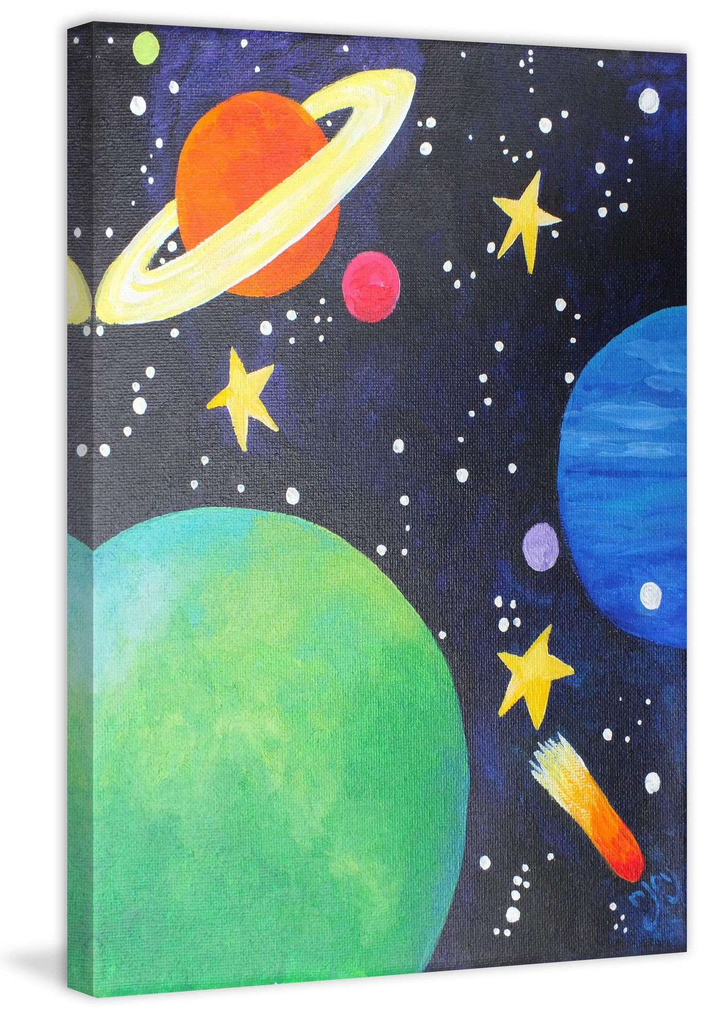 Planet Colors Canvas Art In 2021 Hippie Painting Planet Painting Small Canvas Art