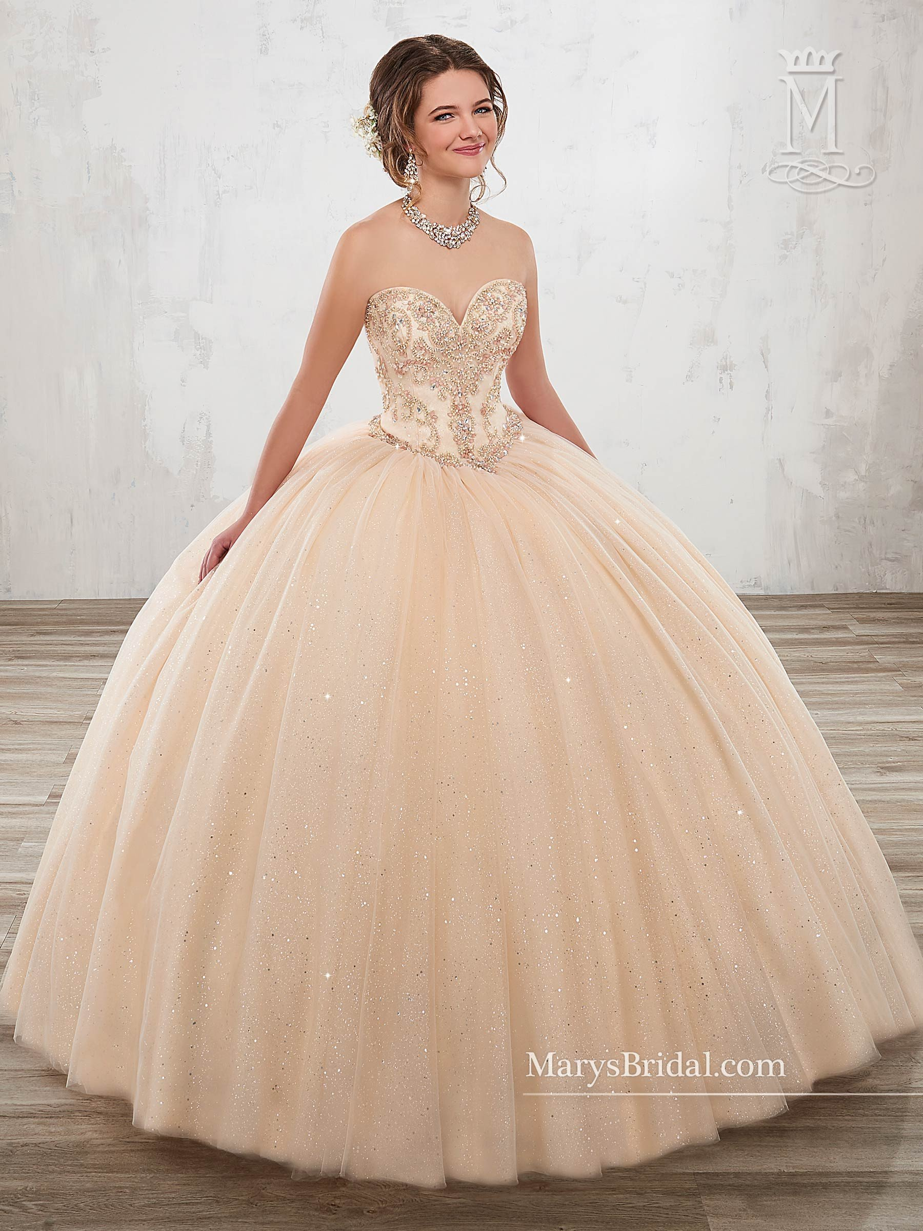 Strapless A-line Quinceanera Dress by Mary s Bridal Beloving 4806 in ... 0fc1a6796fb3