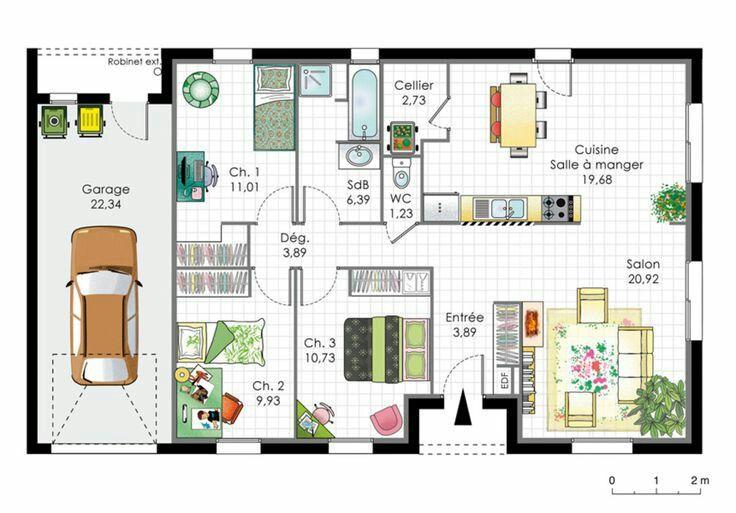 Pin by Diabloo on Plan de maison Pinterest
