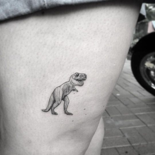 fc2d7c874 Micro tattoo of T rex by Alexnadyr Valentine | Tattoos | T rex ...