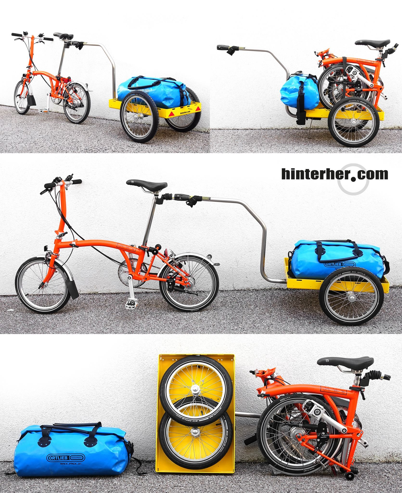 a brompton with hinterher biketrailer mini from munich germany for more great pics follow www. Black Bedroom Furniture Sets. Home Design Ideas