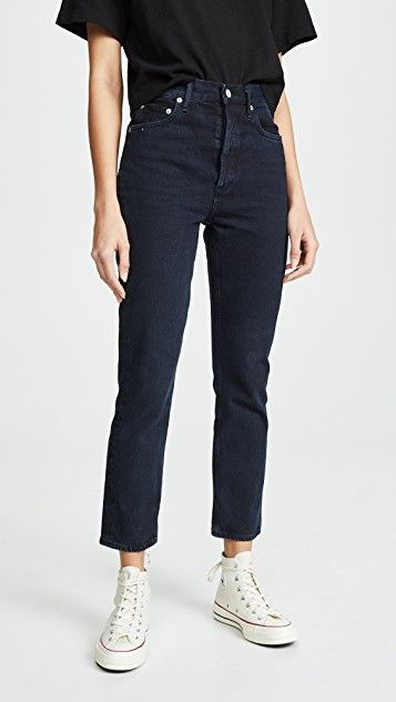 Straight Riley Crop Jeans 1