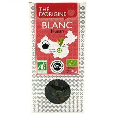 THÉ BLANC PIVOINE BLANCHE  Chine Hunan  Thés du monde - OhSens  Thé Bio  Tonifiant & désaltérant Délicat  Boite 40 g www.ohsens.fr