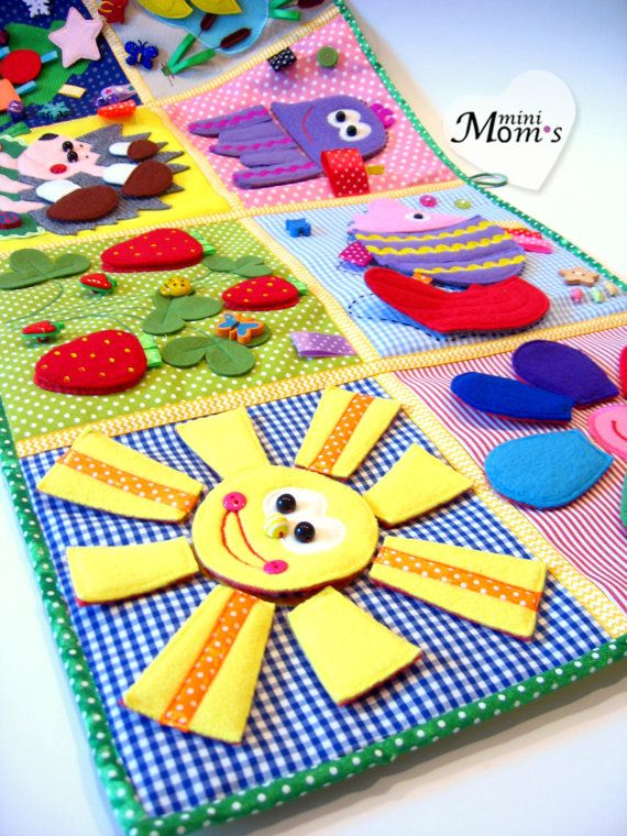 Baby play mat Activity board Tutorial Quiet Book for 1 - 2 ...