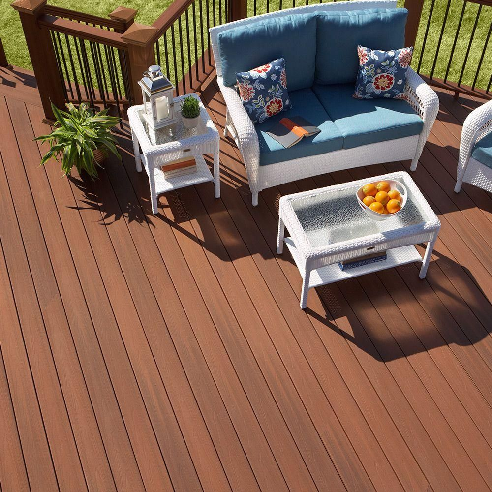 Home Depot Cedar Deck Boards Fiberon Armorguard 15 16 In X 5 1 4 In X 16 Ft Coastal Cedar