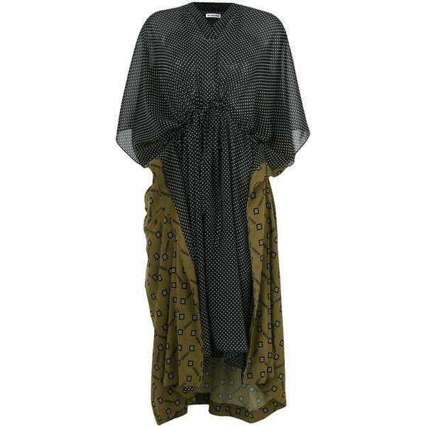 Double Kaftan dress - Green Balenciaga 8UdAWcKq6