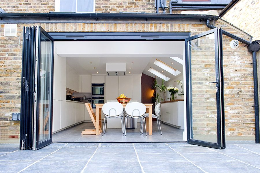 islington side extension kitchen extension victorian terraced house bi fold doors kitchen. Black Bedroom Furniture Sets. Home Design Ideas