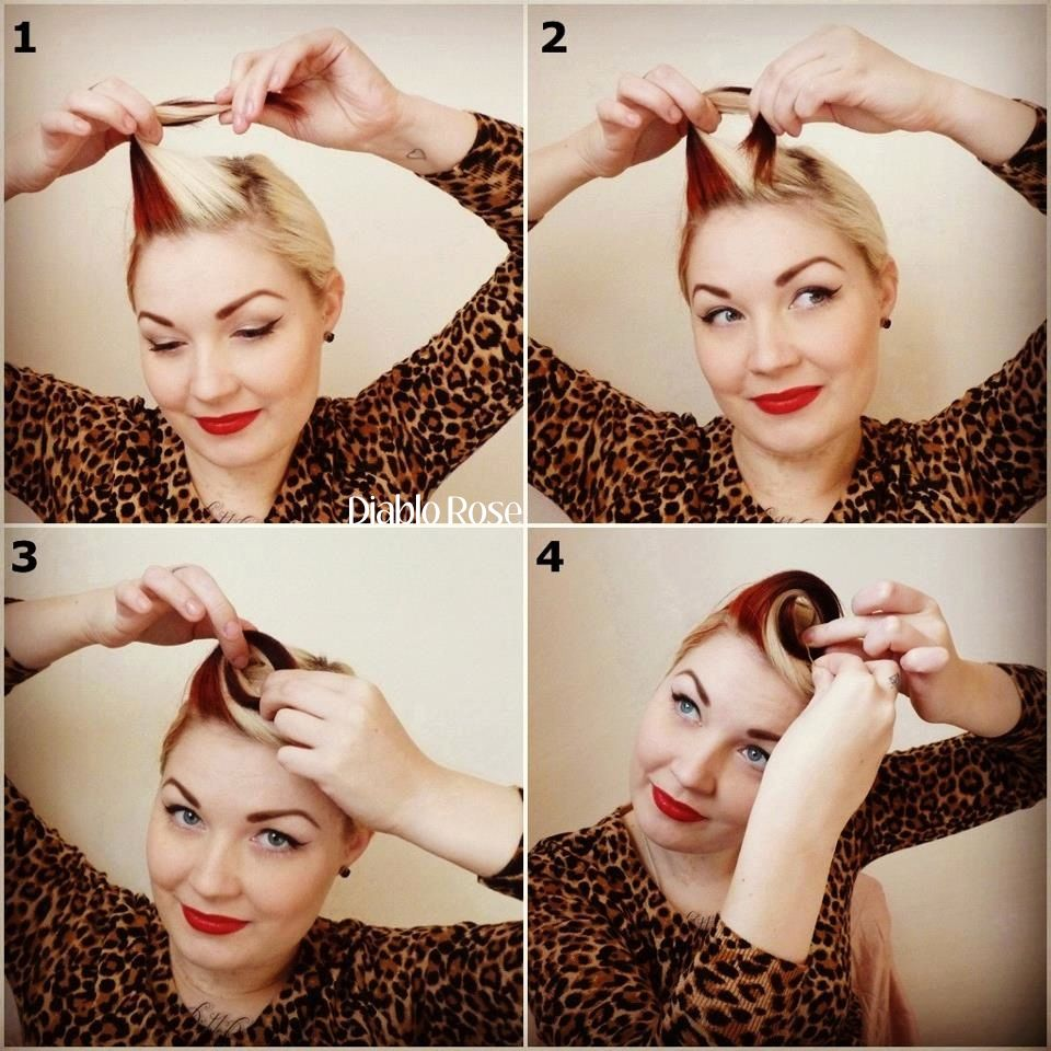 vintage pin up hair tutorial - google search   hair & makeup