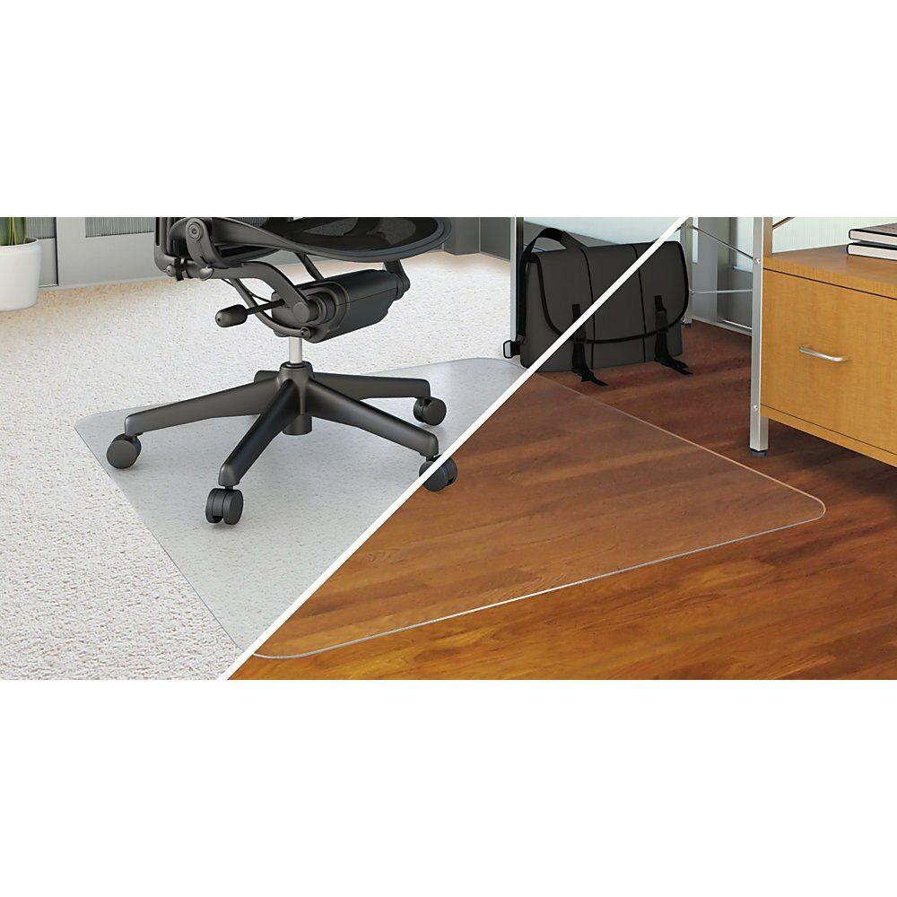 Deflecto duomat chair mat with lip 45w x 52l clear