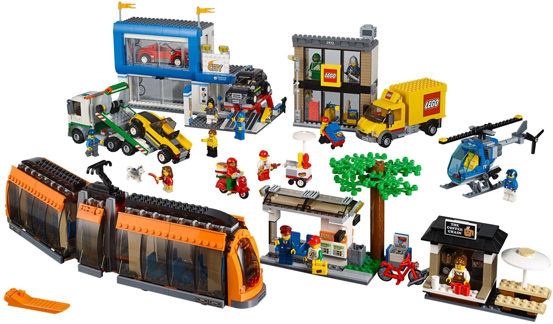 600971 City Square Lego city, Lego city sets, Building