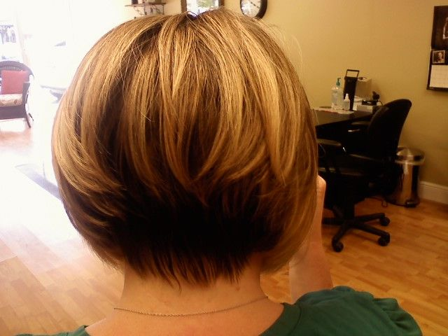 Stacked Inverted Bob Rear Hair Styles Bob Hairstyles Wavy Bob Hairstyles