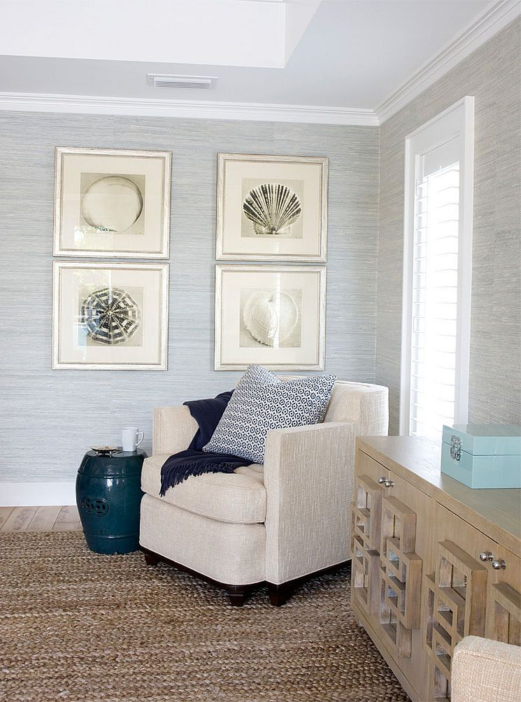 Grey grasscloth wallpaper image by CJ Myer on For the Home