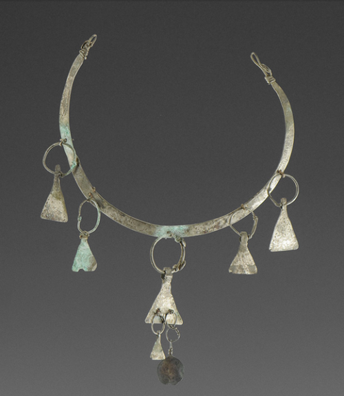 Viking Silver Torc with Axehead Pendants, 9th11th Century