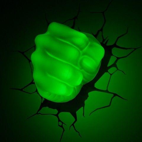 The avengers 3d wall art nightlight hulk hand bubs future room the avengers 3d wall art nightlight hulk hand mozeypictures Gallery