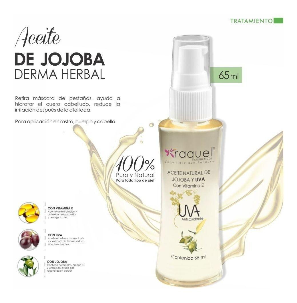 Aceite Natural De Jojoba Y Uva Raquel Aceite De Jojoba Aceite Aceites Naturales