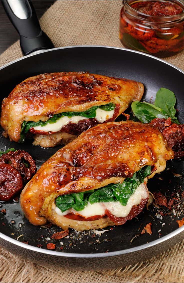 Sundried Tomato, Spinach, Cheese Stuffed Chicken