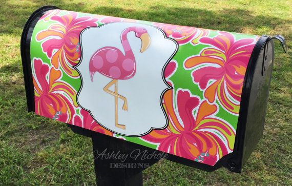 Flamingo Mailbox Cover Magnetic Magnetic Mailbox