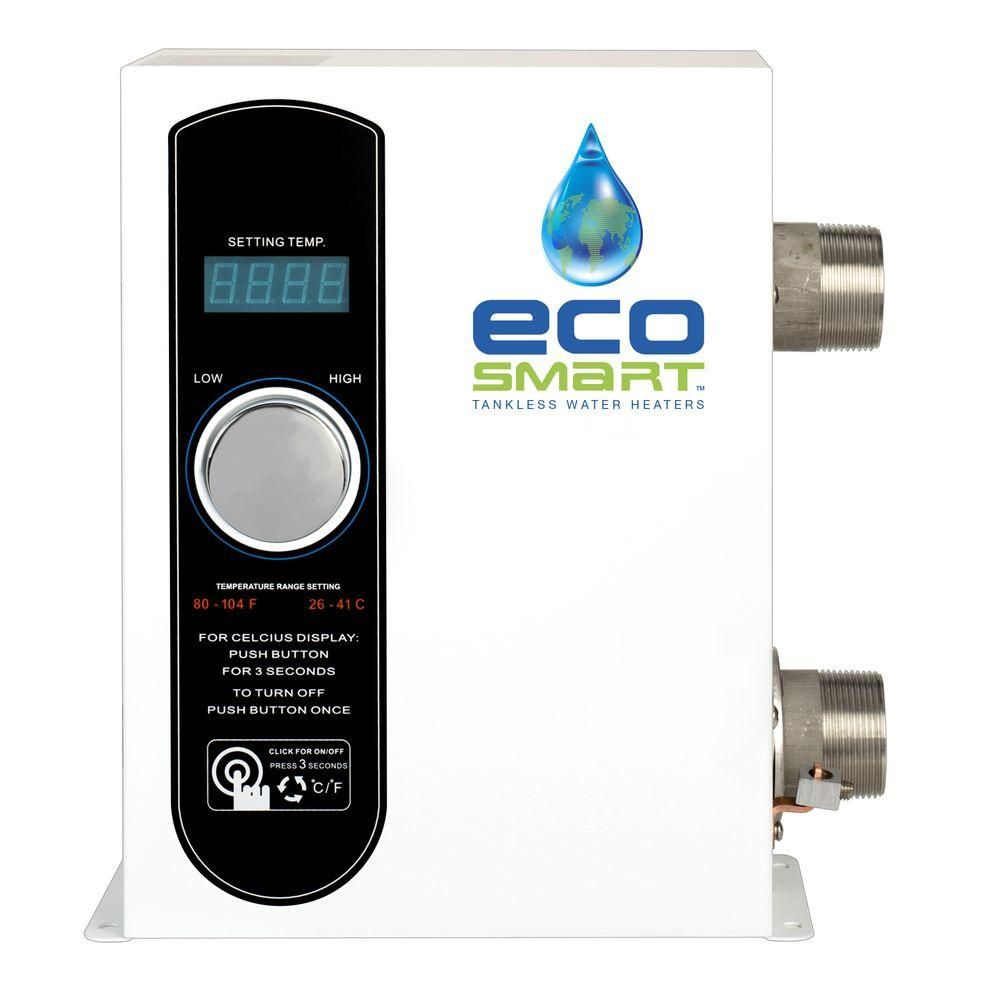 Ecosmart 27 kw 407 gpm smart pool electric pool tankless