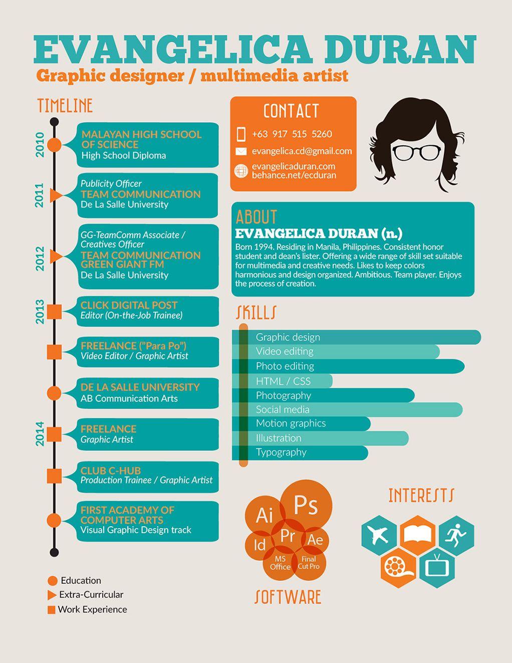 7 inspiring infographic resumes - Infographic Resume Builder