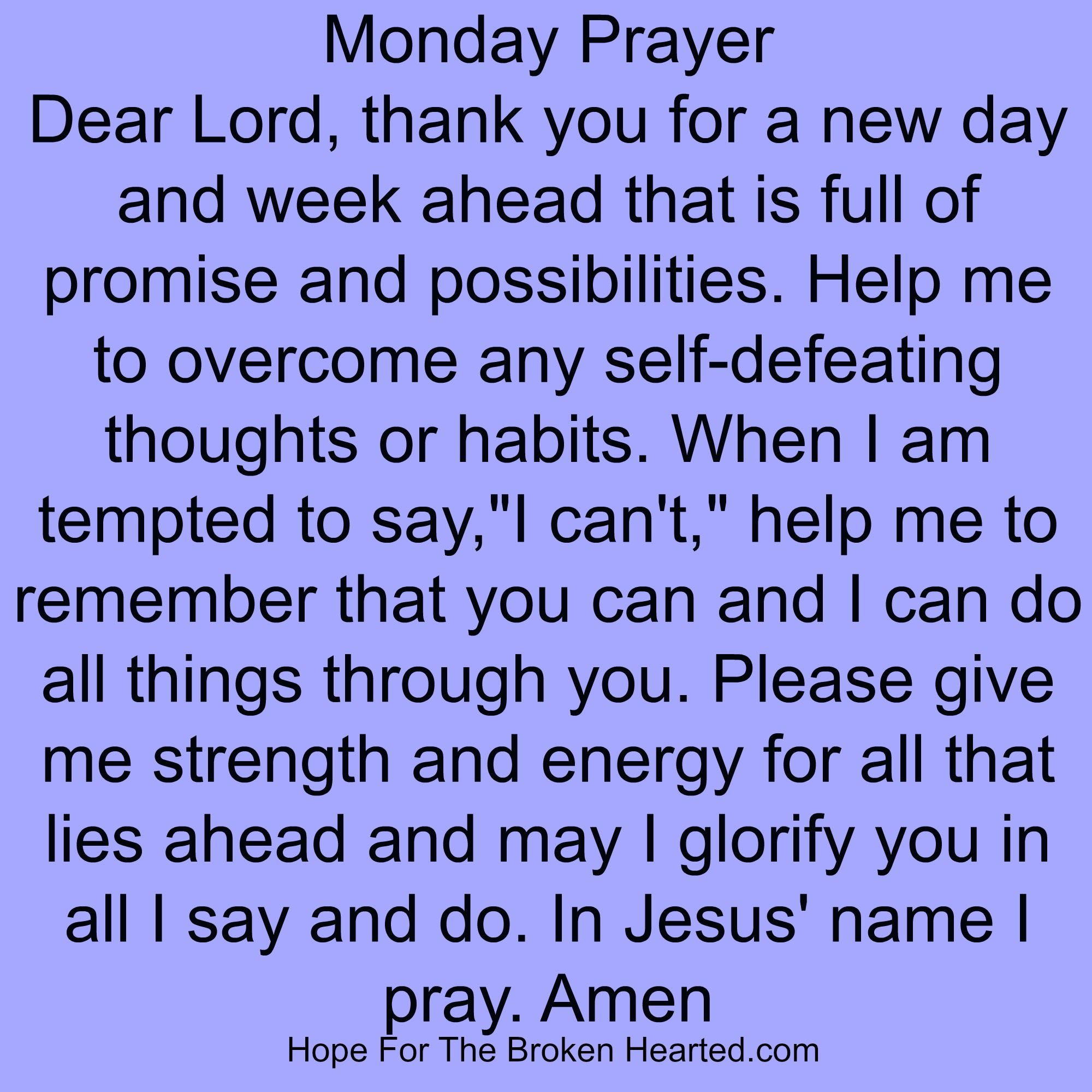 Todays Prayer Quotes Monday Prayer  Prayers  Pinterest  Mondays Daily Prayer And