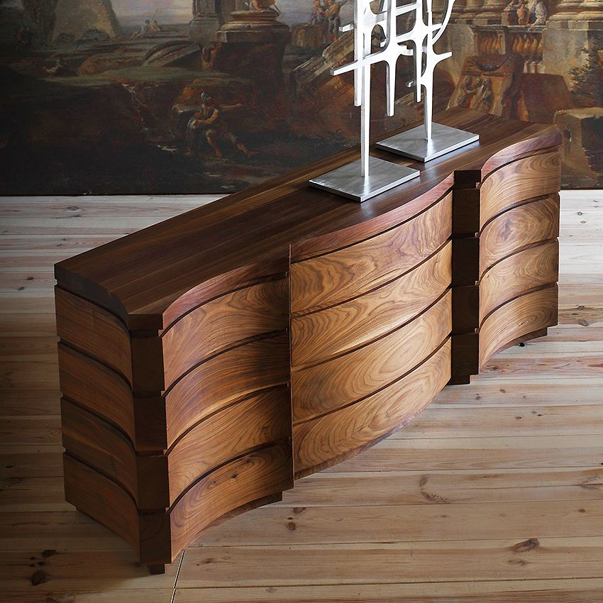 Solid American Walnut Wood Credenzas Taylor Llorente Furniture