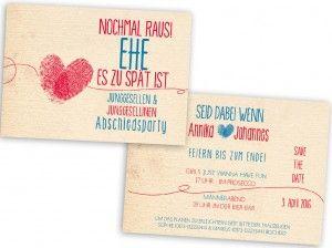 Einladung Junggesellenabschiedsparty Hochzeit
