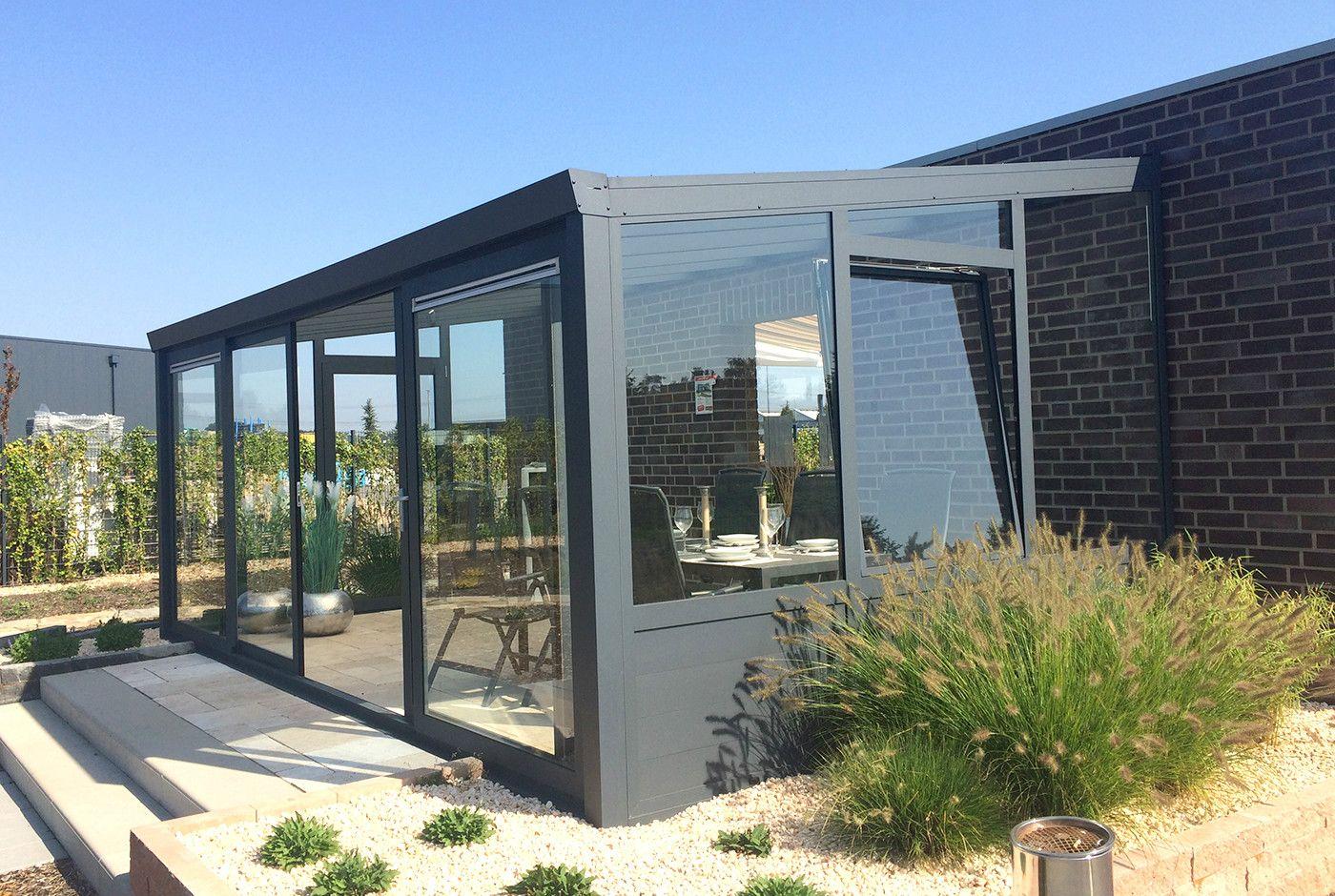 Mobiler Wintergarten terrassenüberdachung aluminium wandanbau wintergärten