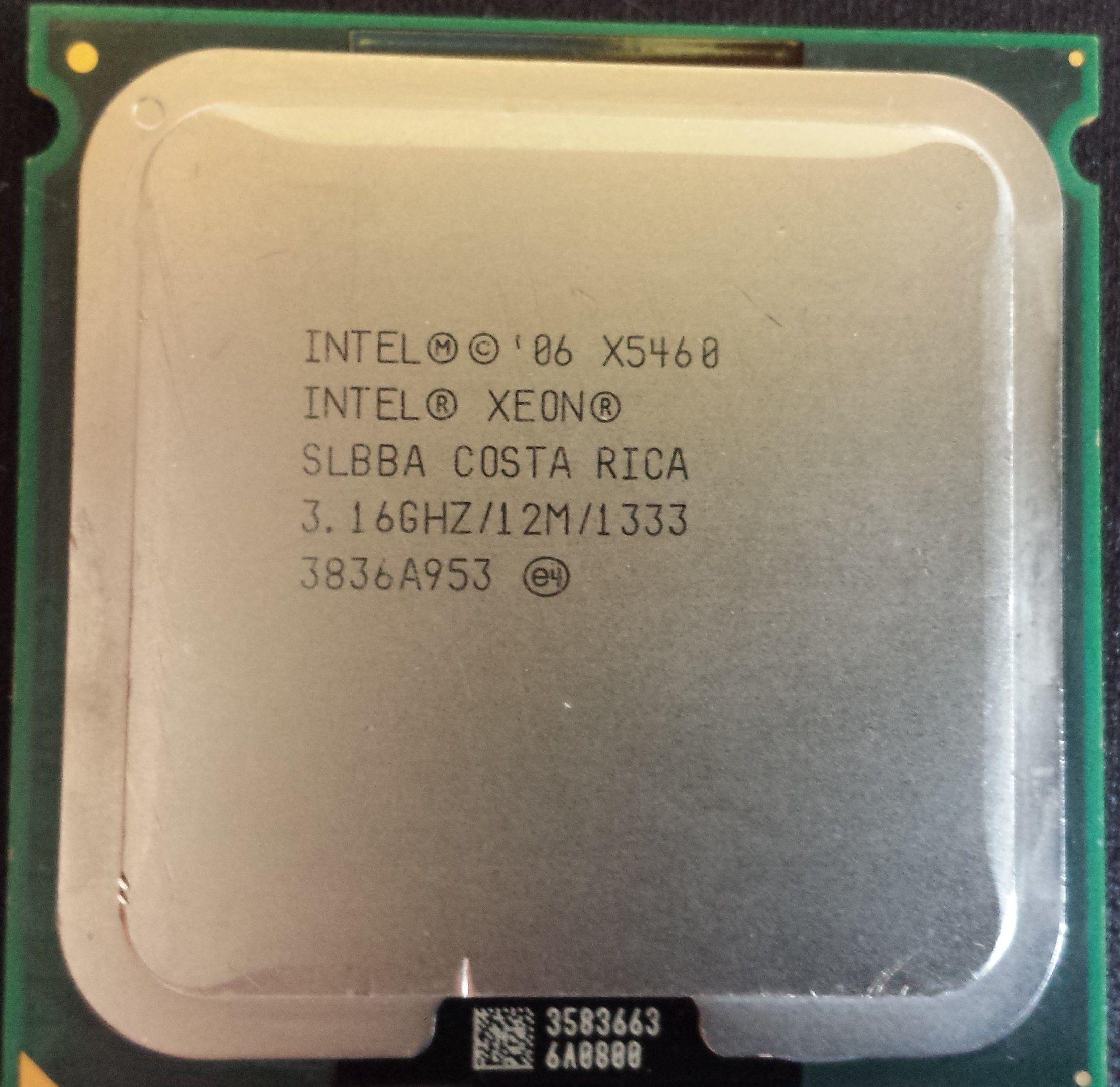 Intel Xeon X5460 z adapterem na LGA775, lepszy od Intel