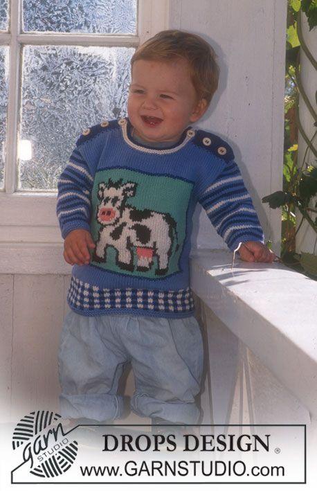 Pulli In Muskat Soft Mit Kuh Streifen Und Karos Decke In Muskat Soft Mutze Stricken Kinder Kinderkleidung Baby Stricken