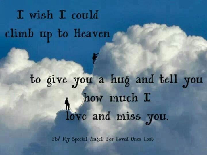 Birthday Wishes Spiritual Quotes ~ I wish i can climb up to heaven beautiful quotes