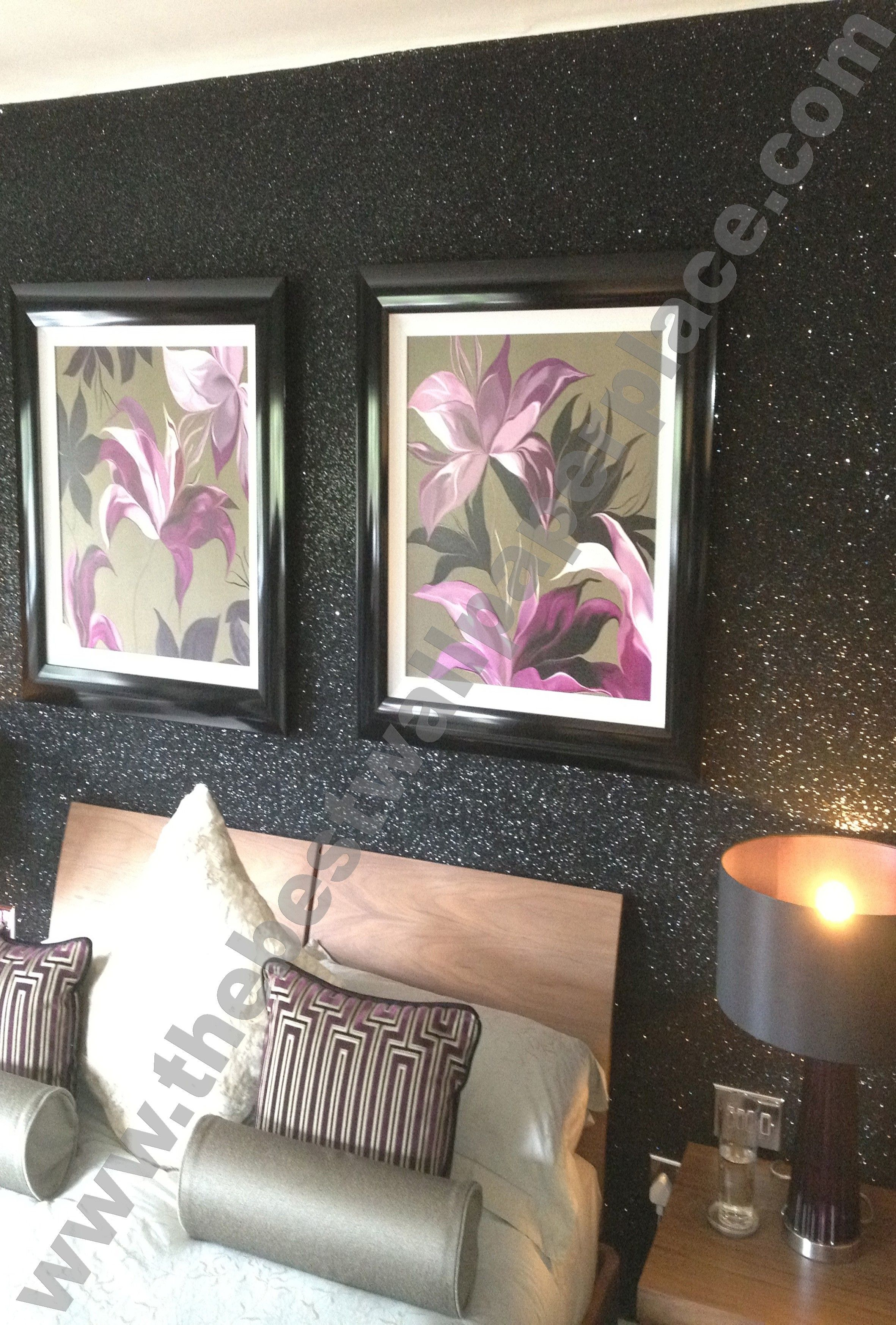 Best Sparkle Shades Of Silver Black Glitter Wallpaper 400 x 300