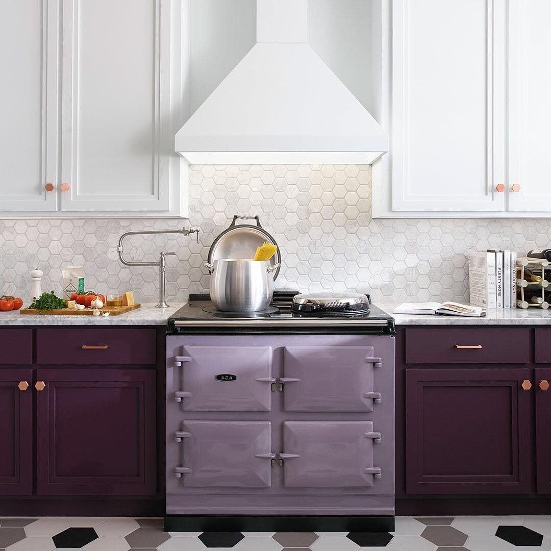 Aga 39 Inch Freestanding Electric Cooker Petagadget Kitchen Purple Kitchen Kitchen Inspirations