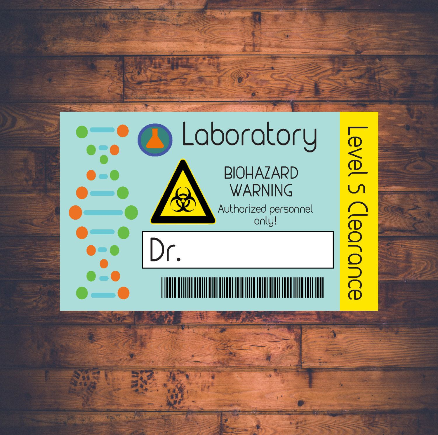 Science Lab Name Badge Printable Customizable Scientist Lab Etsy Science Birthday Science Birthday Party Ideas Science Party Invitations
