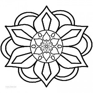 Printable Rangoli Coloring Pages For Kids