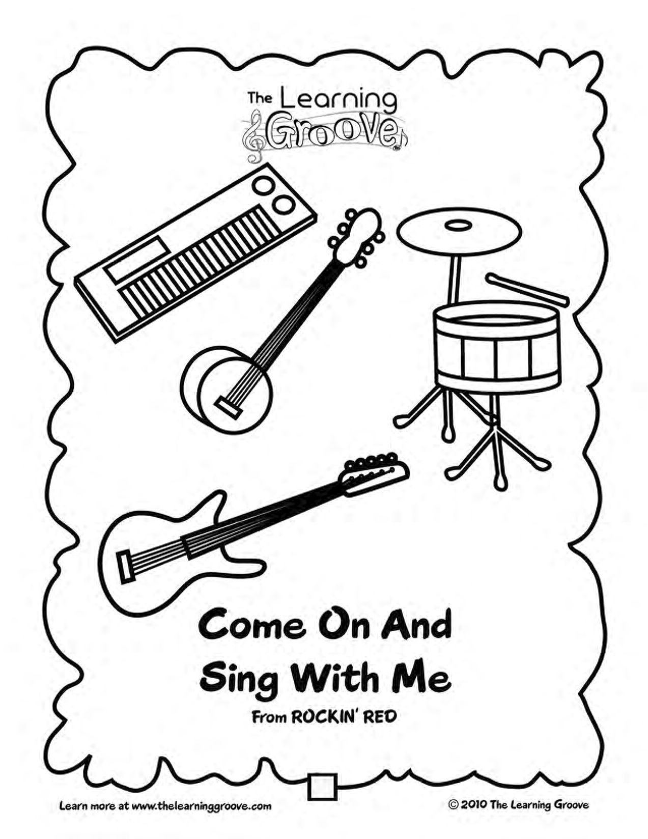 Come On And Sing With Me - This would be a great song to teach preschoolers about some different instruments!