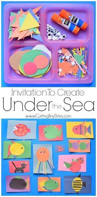 Invitation To Create Under The Sea Activities For Preschoolers