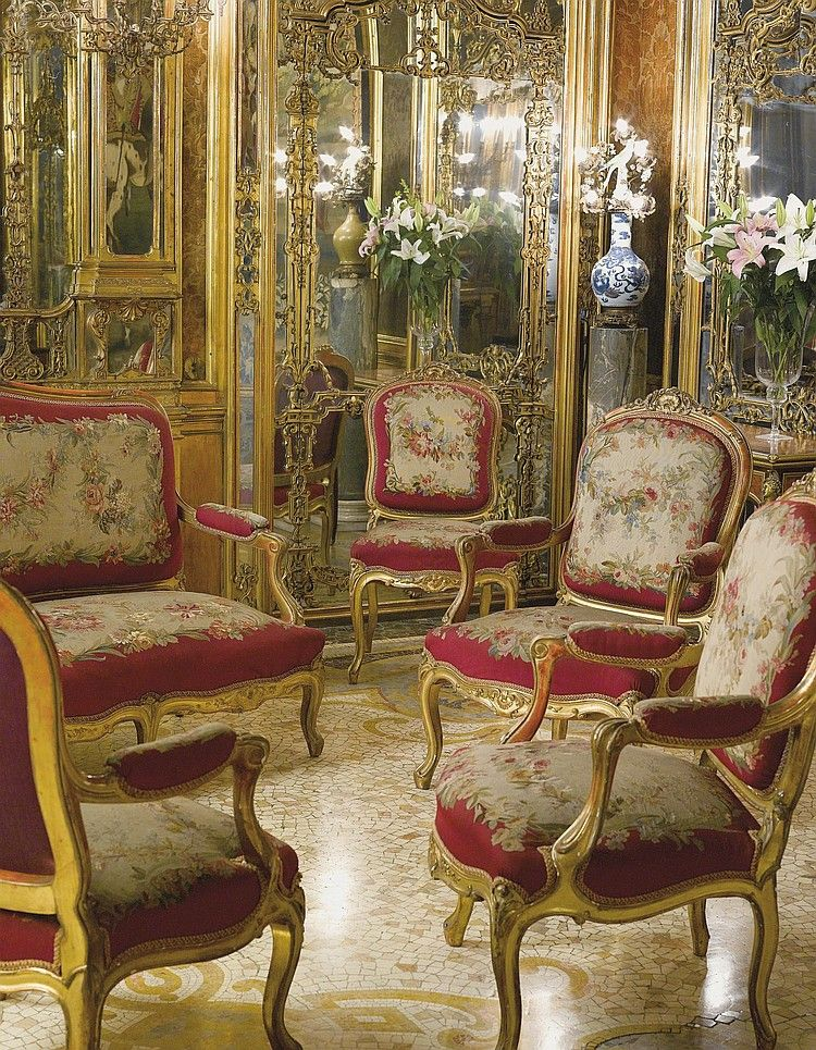 aubusson nine piece salon suite