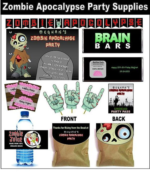 Zombie Party like the idea for the party pack Ryans 5th