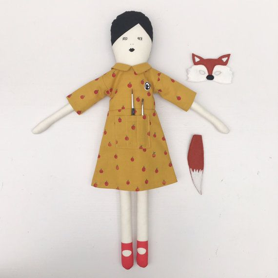 Mrs. Fox a limited edition doll by mikodesign on Etsy
