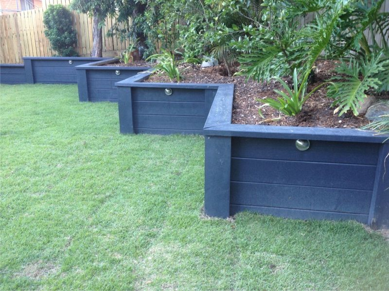 Painted retaining wall backyard hopes and dreams Garden wall color ideas