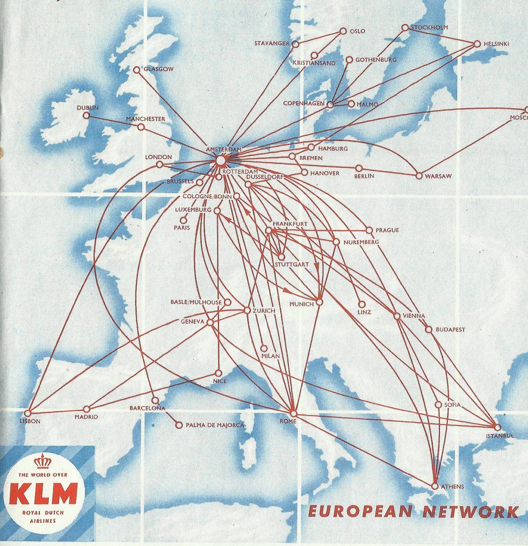 Airline memorabilia: KLM (1959/1960), Reino Unido [completo ...
