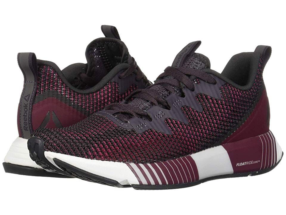 aeb33e83349514 Reebok Fusion Flexweave Women s Lace up casual Shoes Smoky Volcano Twisted  Berry Rustic Wine Coal White